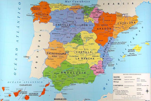 Mapamundi Mapa de España politico
