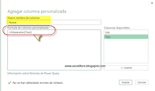 Power Query: Construir una función personalizada.