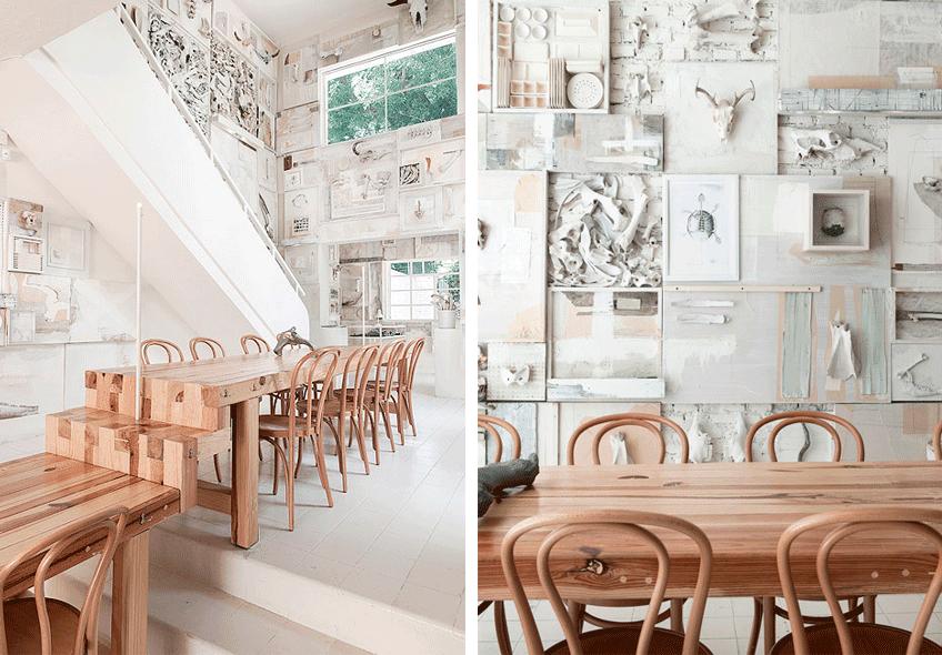 Restaurante con decoración nórdica