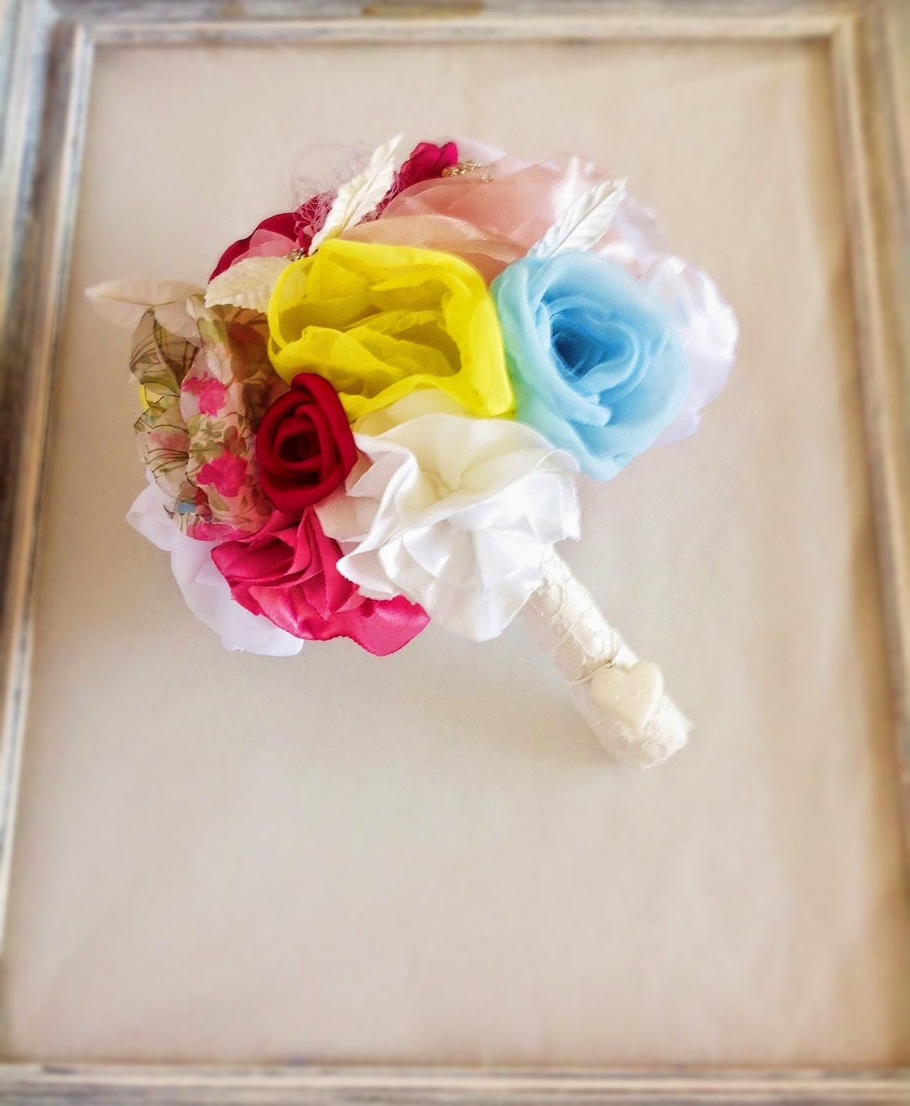 ramo de noiva em tecido