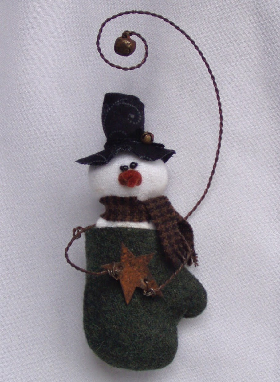 Smitten Snowman Ornament Epattern