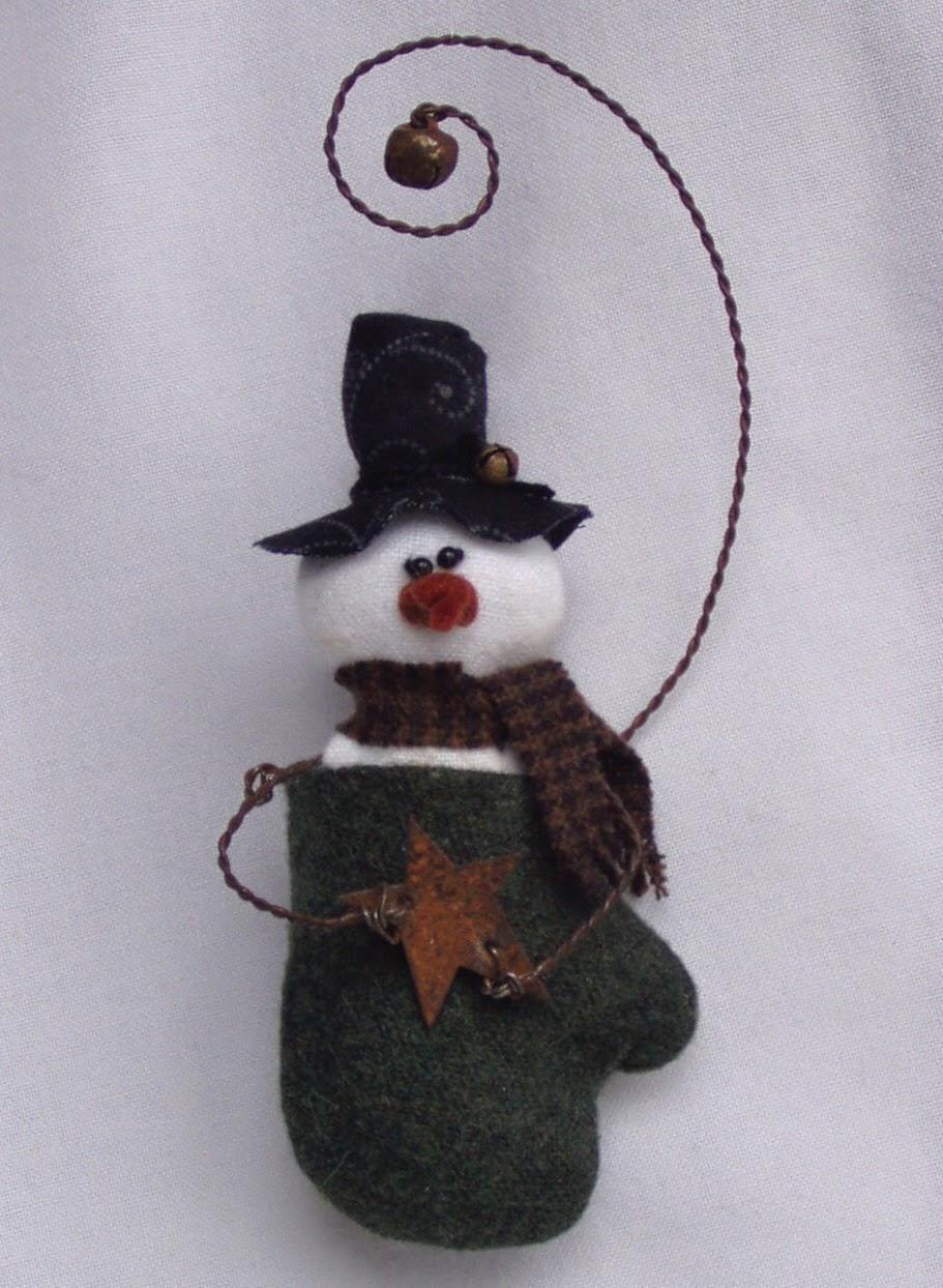 Smitten Snowman Ornament Epattern