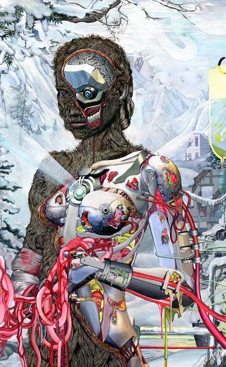 Steven Tabbutt ilustrações surreais psicodélicas