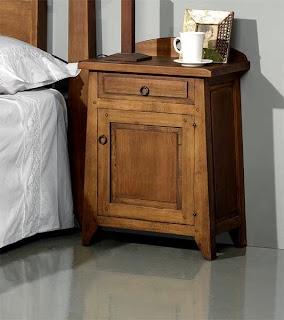 mesilla rustica, mesilla rural, mesilla dormitorio