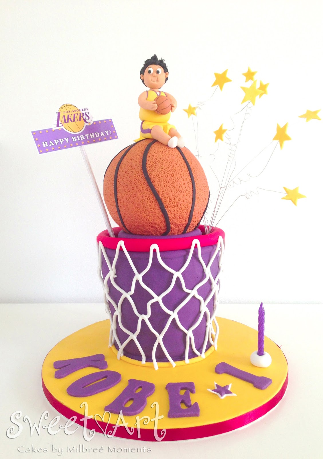 Sweet Art Cakes By Milbre Moments Kobes La Lakers Basketball
