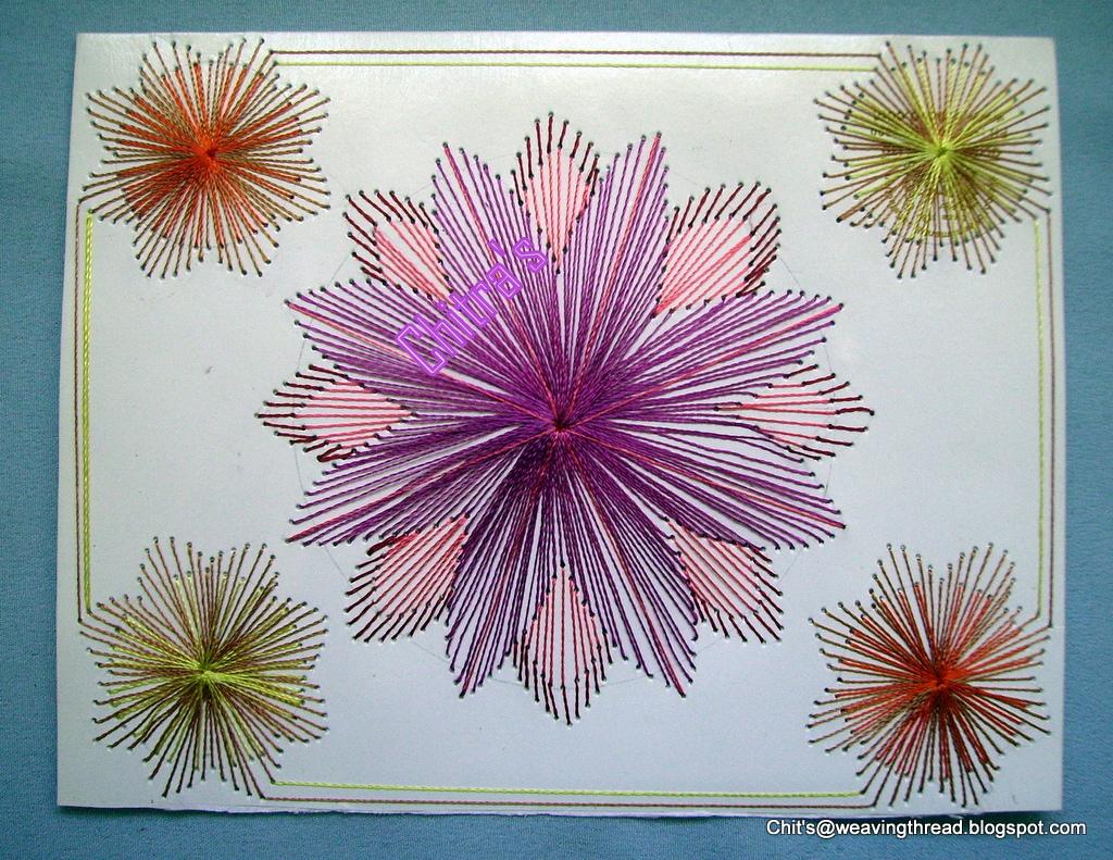 Weavingthread Thread Work Floral Design