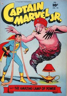 Captain MArvel Jr 94 cover: The Lamp of Power