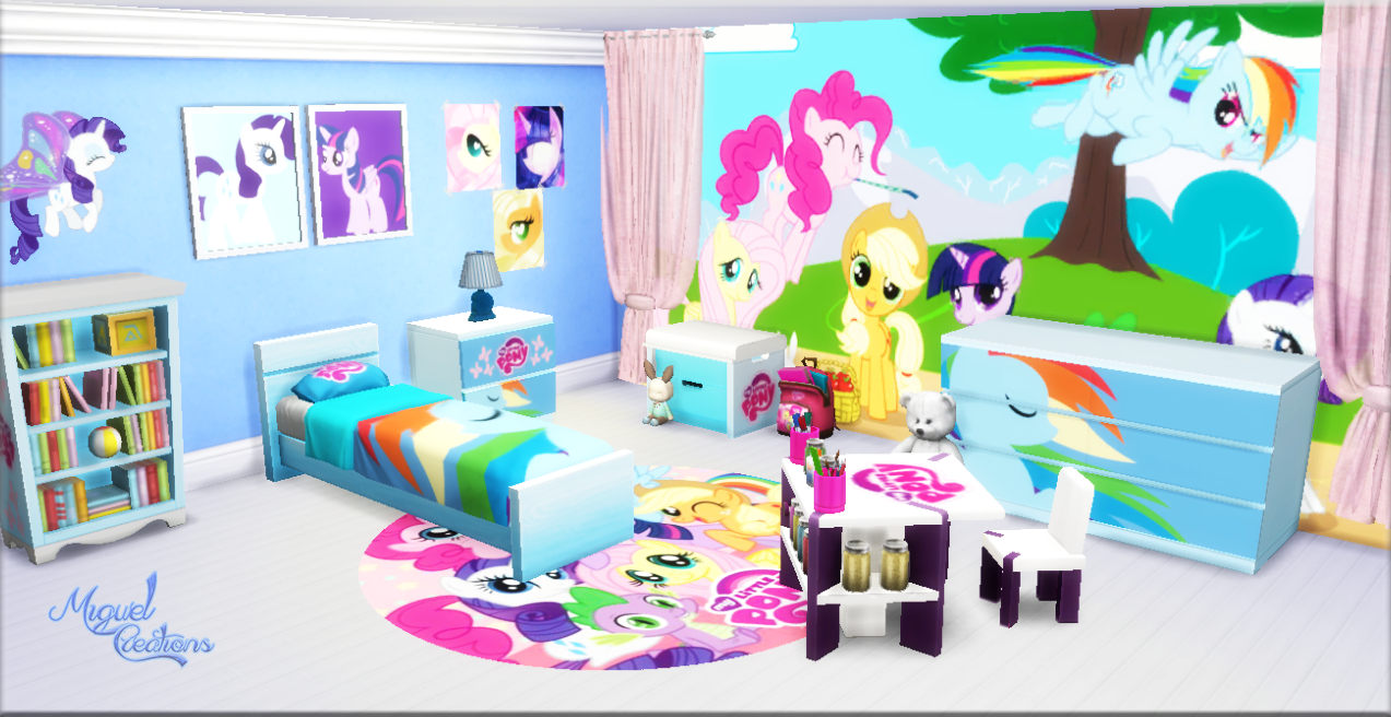Miguel Creations TS4: Bedroom - My Little Pony