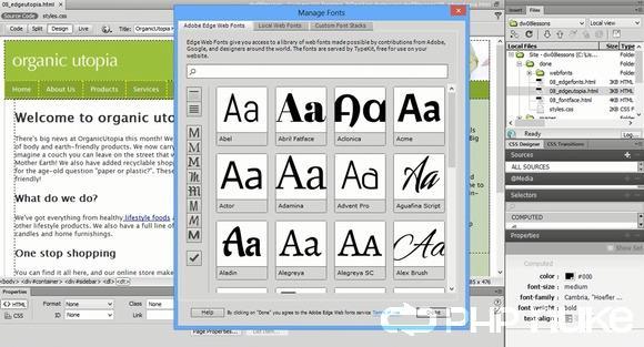 Adobe Dreamweaver CC 13.2 Screenshot
