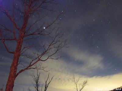 Night sky view from gatlinburg cabin rental