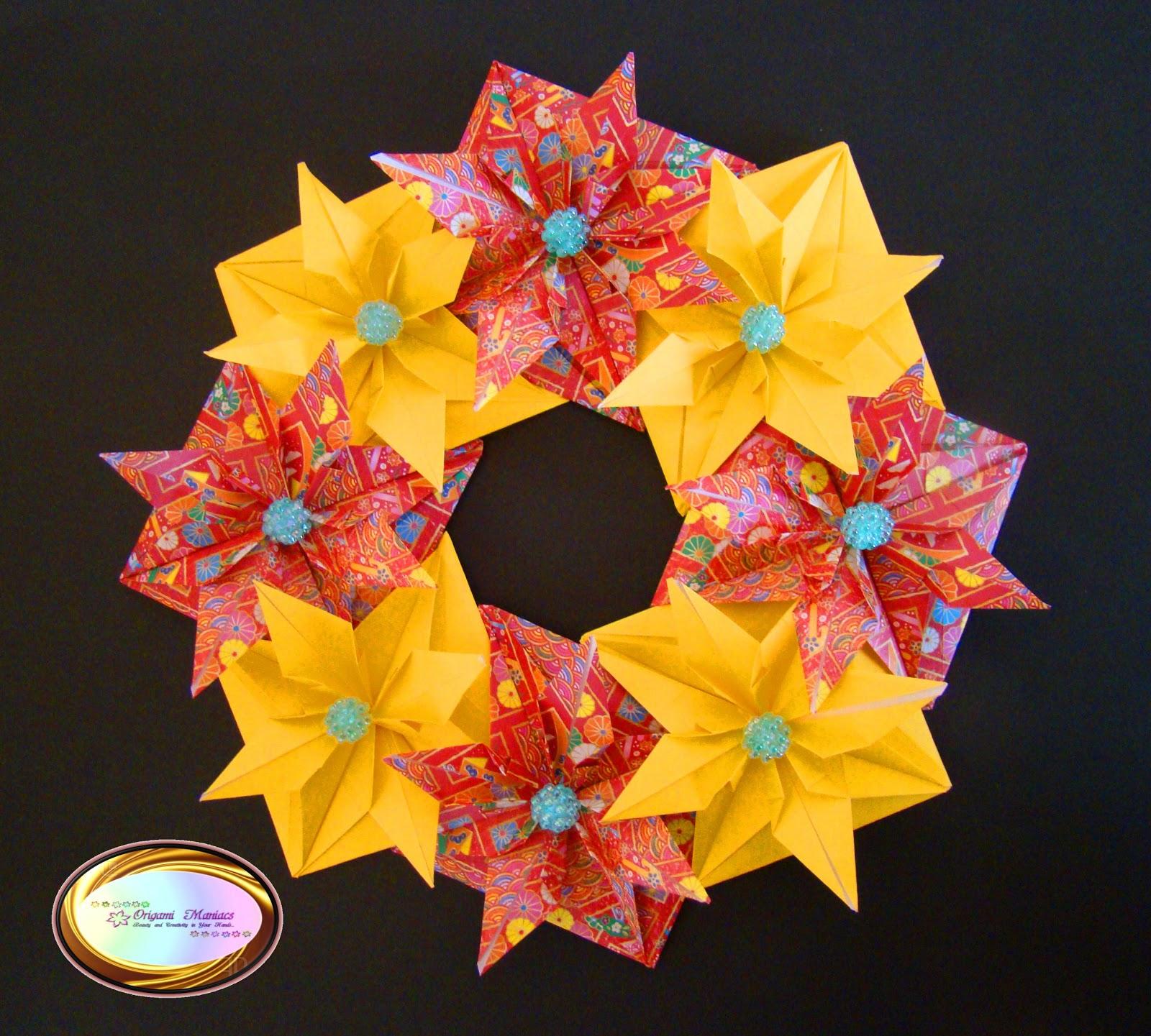 origami maniacs beautiful origami christmas wreath