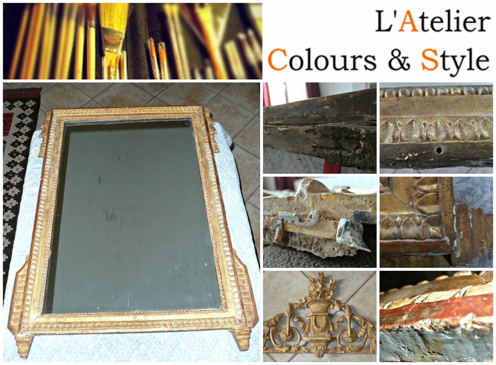 L 39 atelier colours style restauration d 39 un miroir d for On traverse un miroir