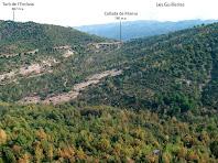 Panoràmica vers el nord des de les Roques Trabucaires