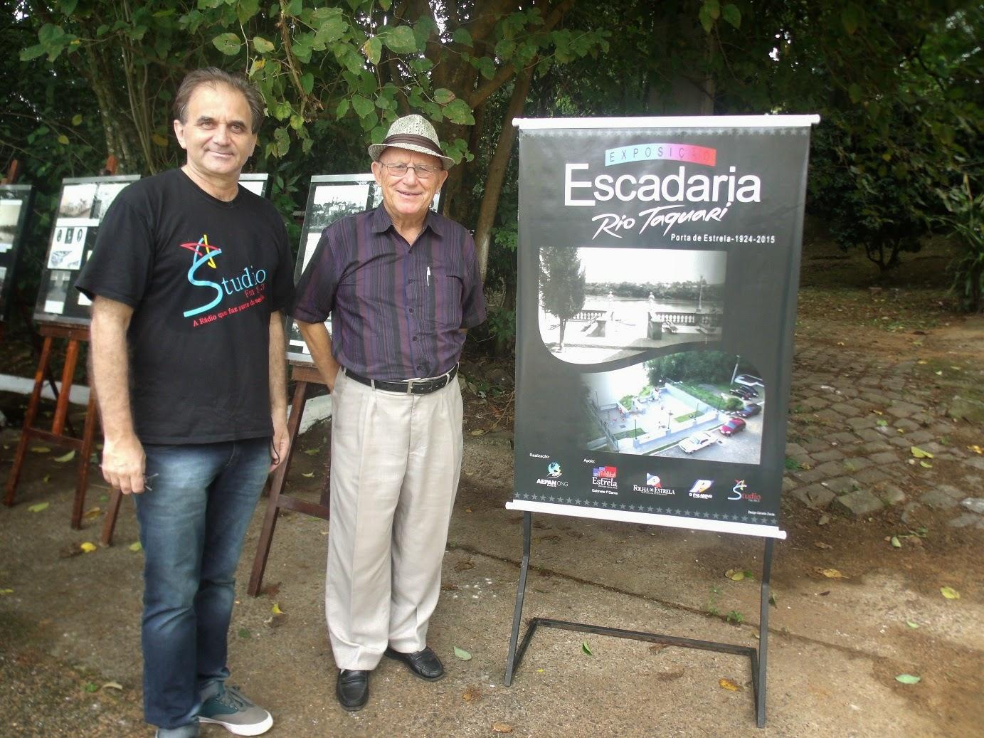 Airton Engster dos Santos com professor José Alfredo Schierholt