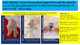 NEW SERVICE! Send a Personalized Copy of Pets and the Afterlife 1, 2 or 3 to your grieving friend