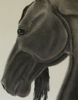 charcoal drawings, horse drawing, horse art