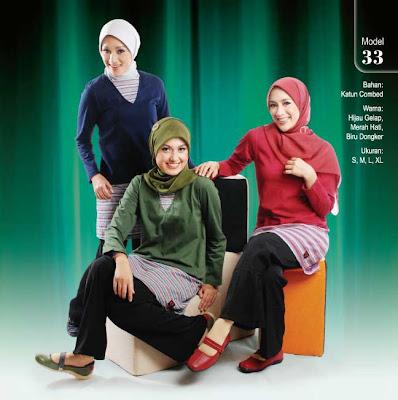 Busana Muslim Qirani Hijau gelap Merah hati Biru dongker