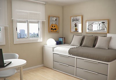 Simple and Minimalist Teen Bedroom Design by Sergi Mengot 5