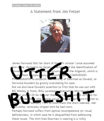 Nonsense - laden diatribe From Jim Fetzer