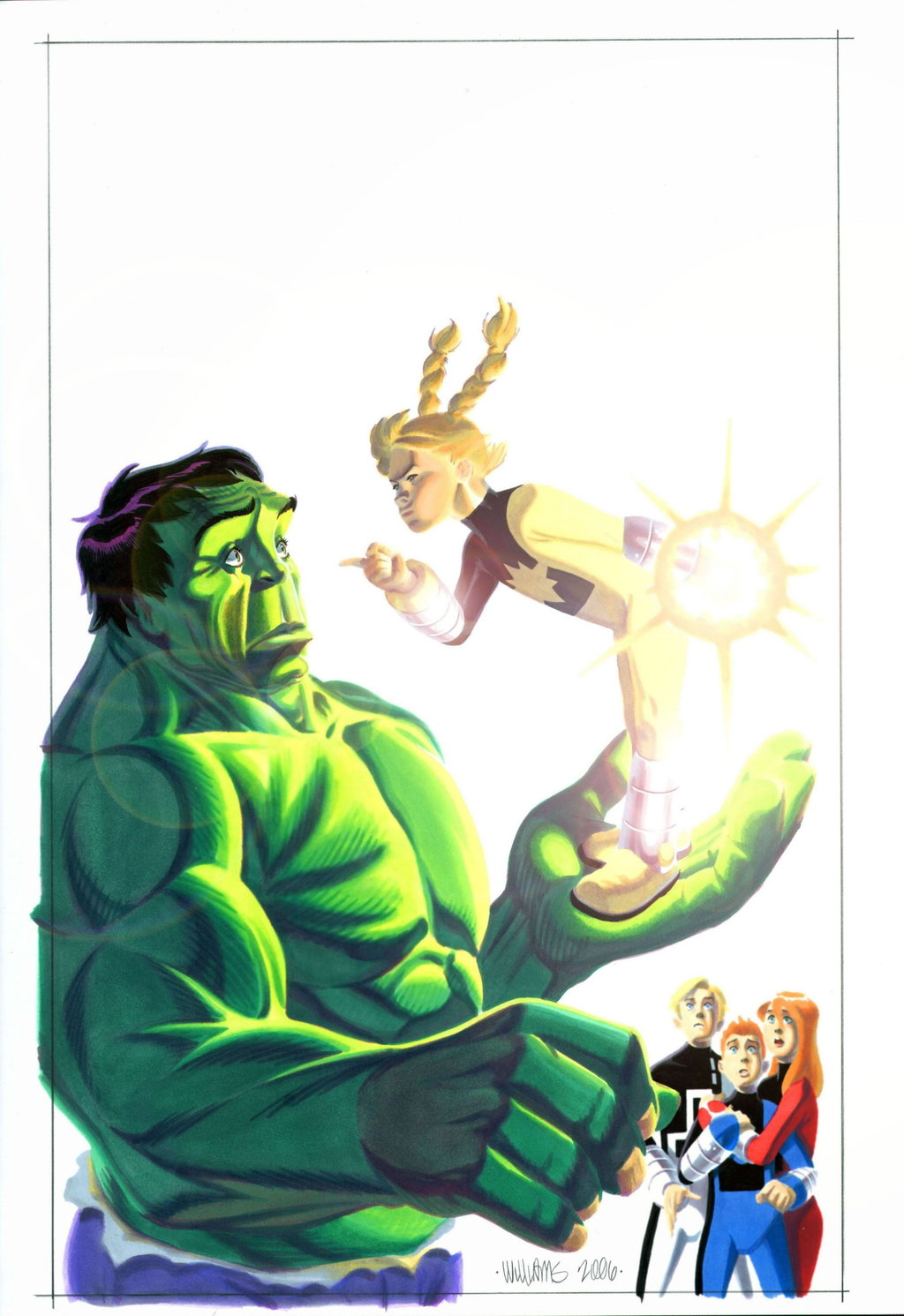 Hulk and PowerPack  issue two por BroHawk