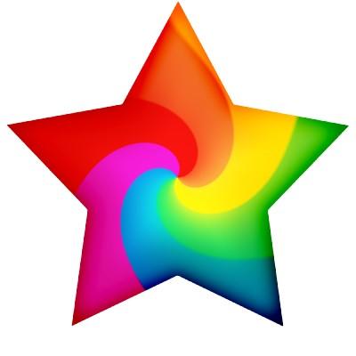 Cuando miro las estrellas me imagino que son de colores y he puesto