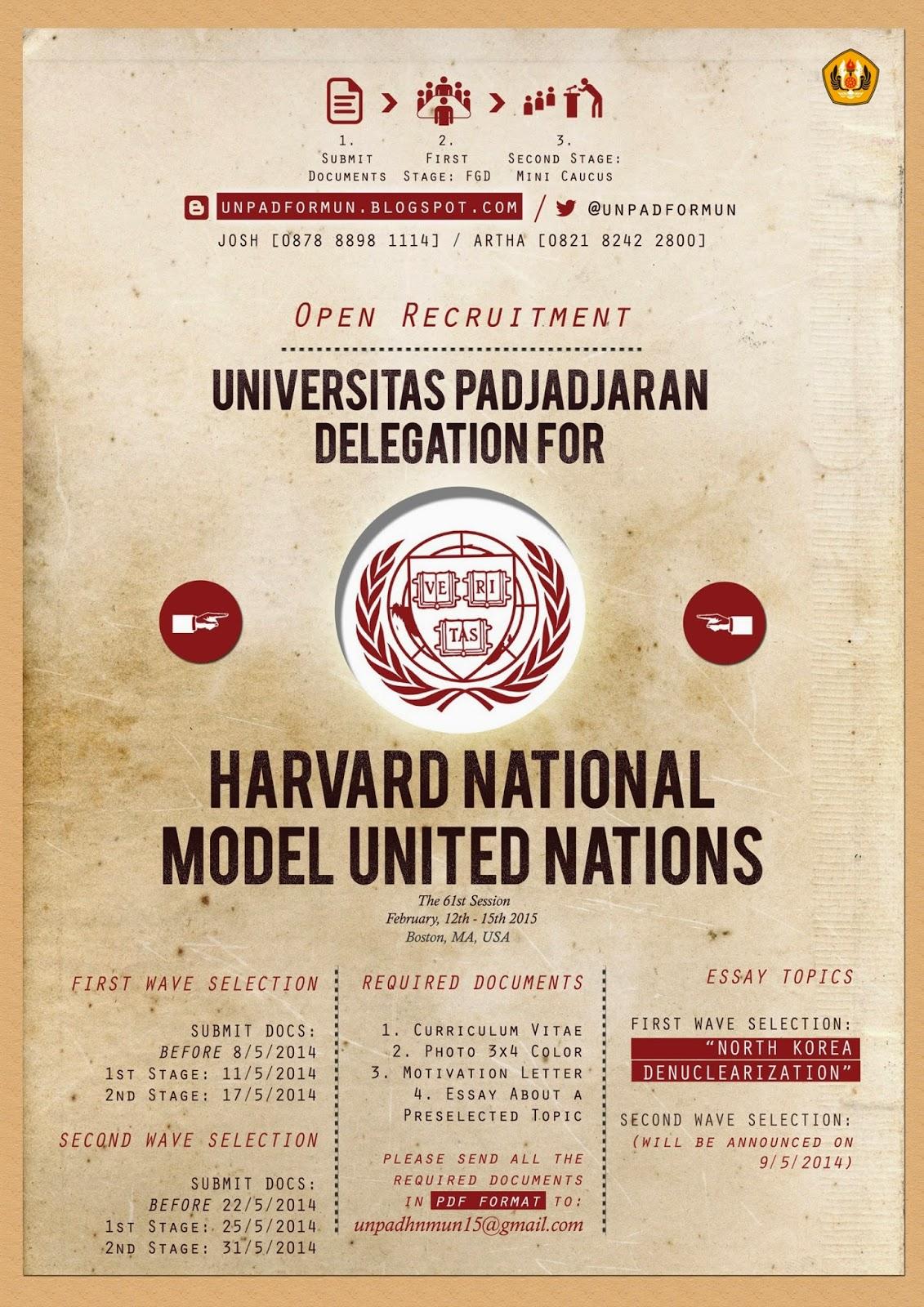 description of harvard model united nations essay