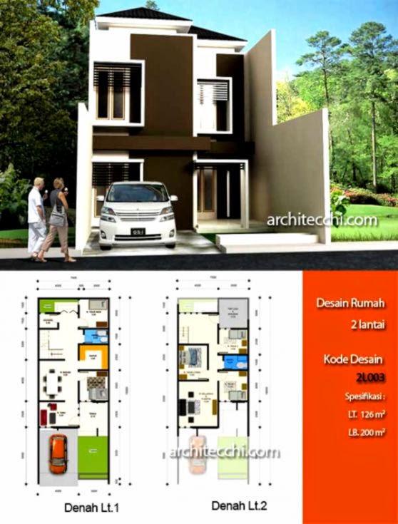 Gambar Denah Rumah Minimalis Modern 2 Lantai 2015