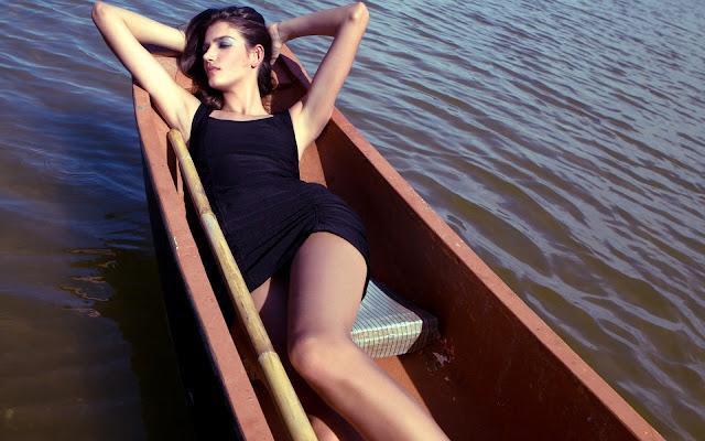 Jaine Schuh on Boat