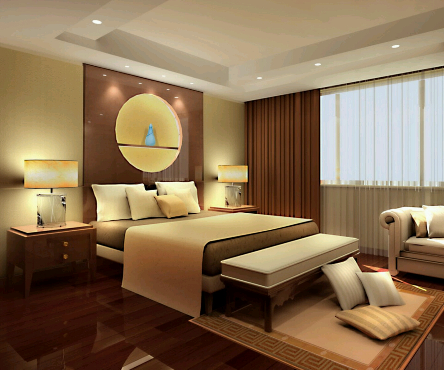 New home designs latest modern beautiful bedrooms for Stunning bedroom designs