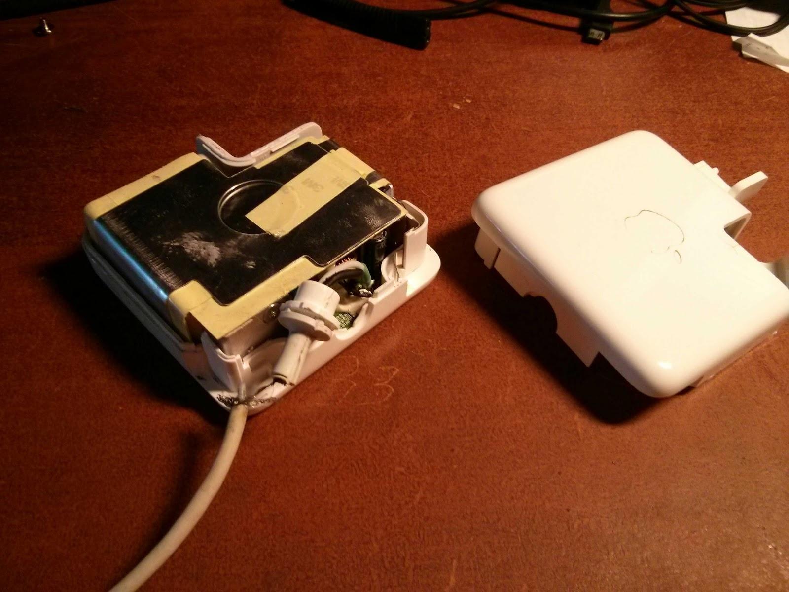 Как разобрать зарядку macbook
