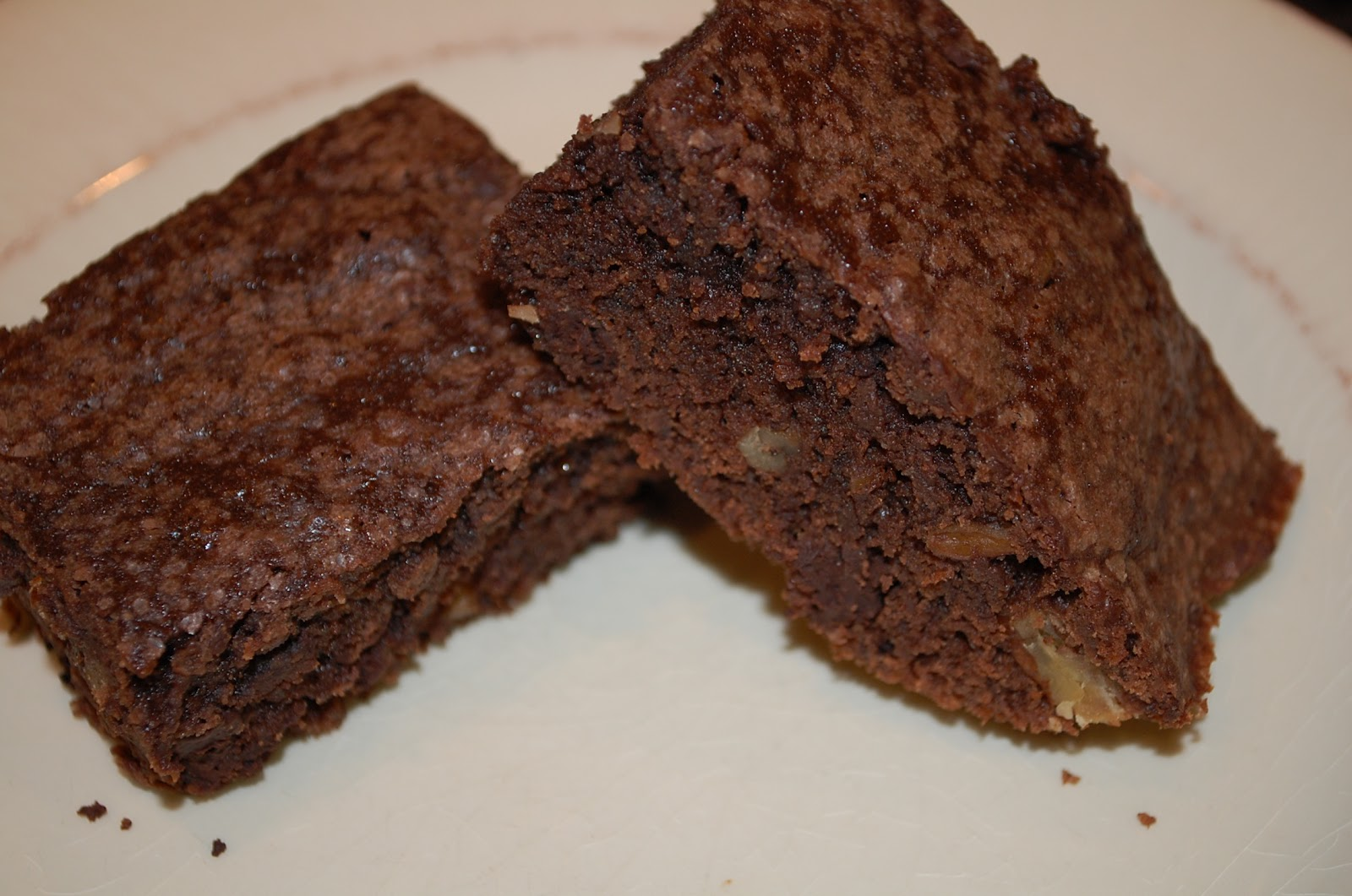 Eating From The Homestead: Double Dark Chocolate Chunk Brownies