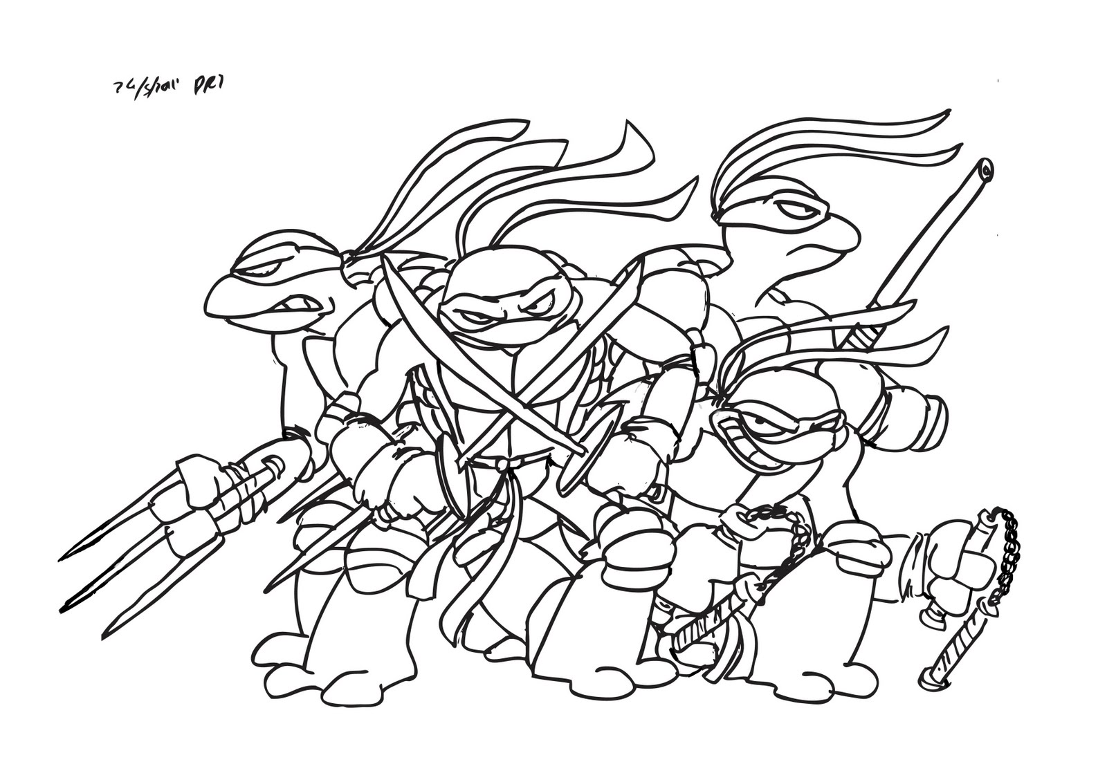 Ninja turtles pages to color - Teenage Mutant Ninja Turtles Coloring Pages