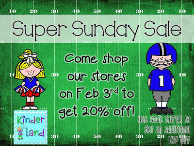 Teachers Pay Teachers Super Sunday Sale