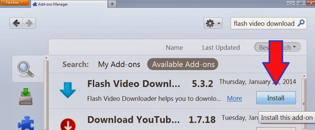 cara download video di firefox android