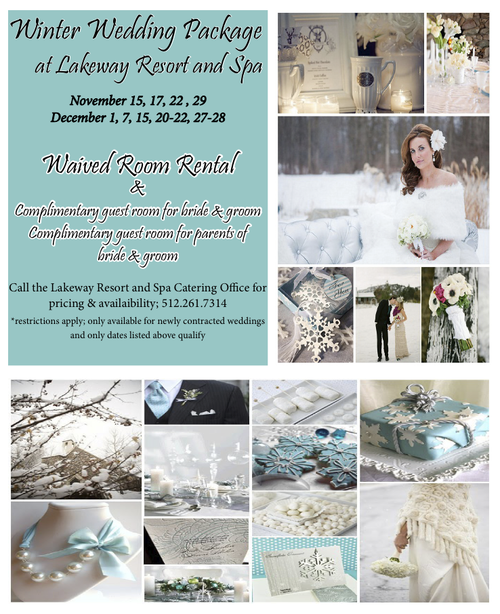 Lakeway Resort and Spa : {Winter} Wedding Package