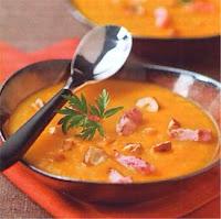 soupe potiron et lardons saveur d'automne