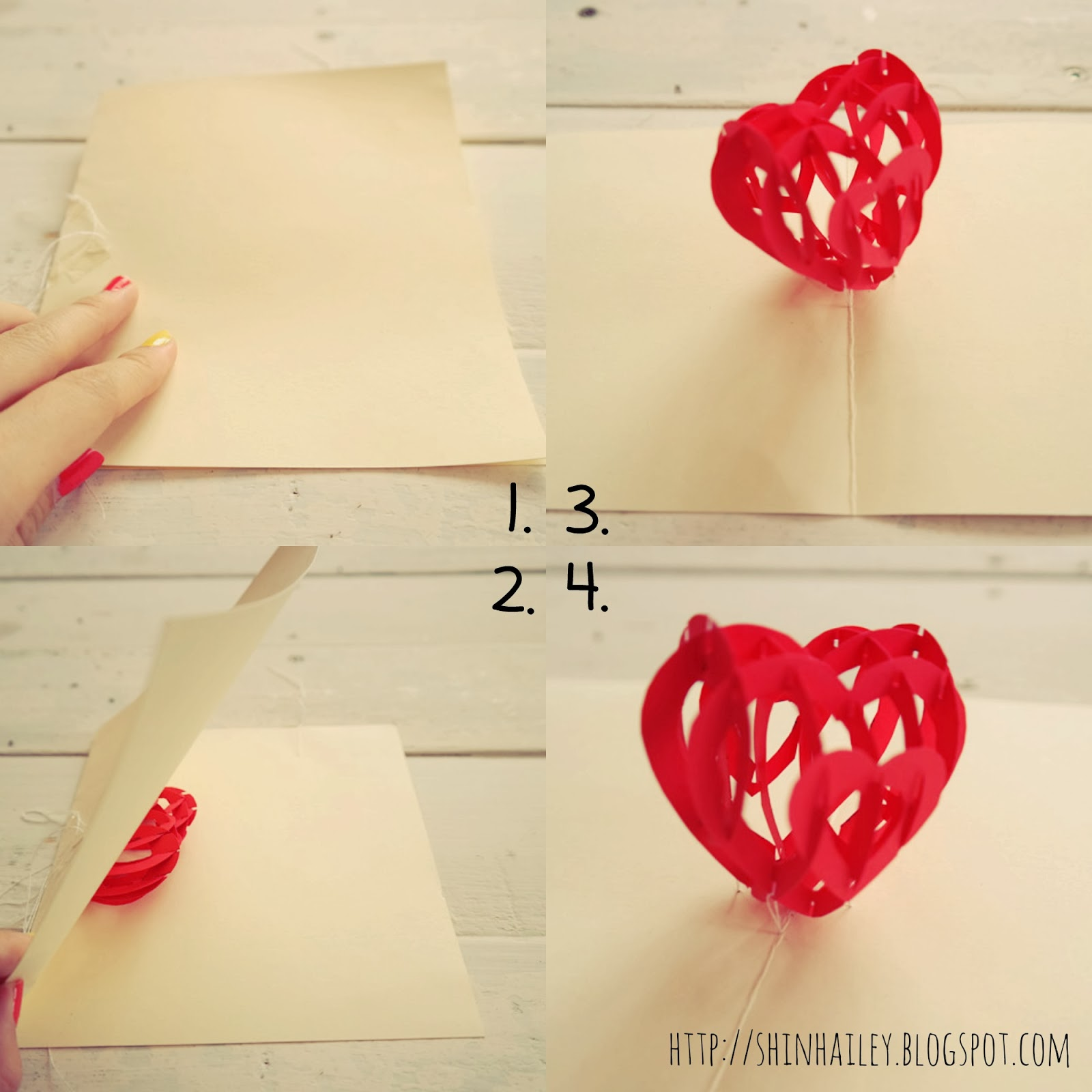 diy tutorial valentine s 3d love pop up card shin hailey
