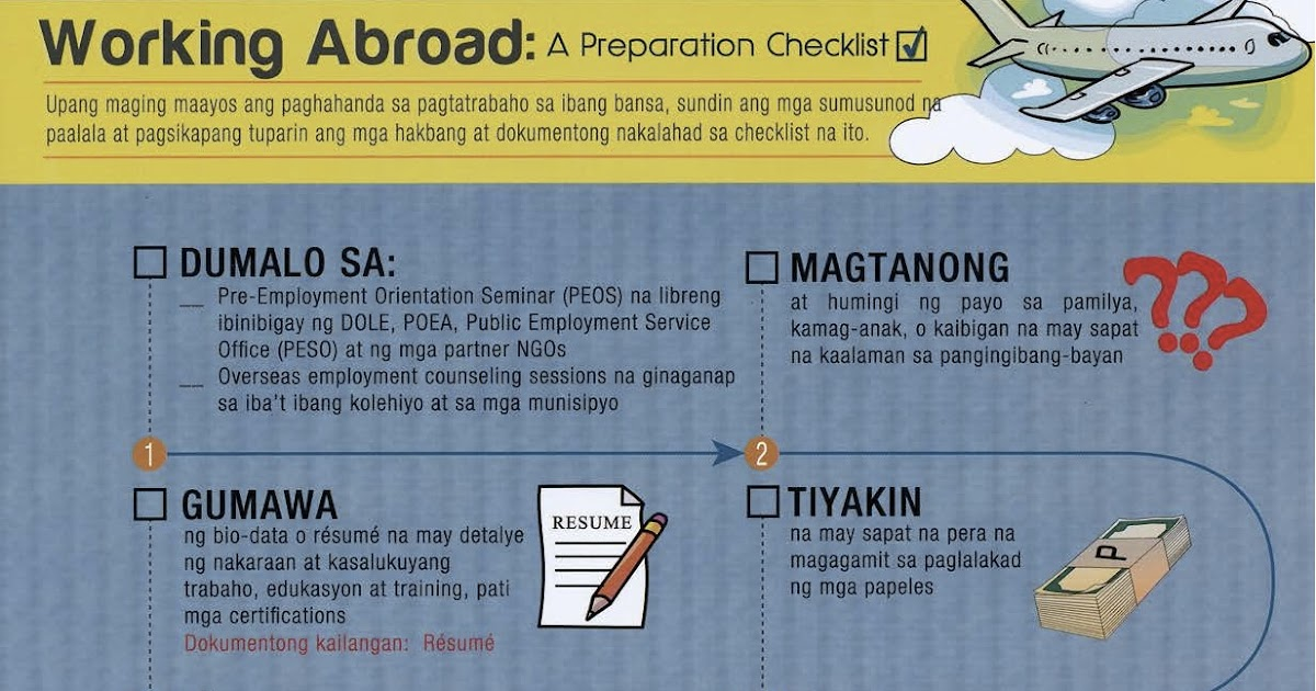 the pinoy informer  poea workabroad checklist