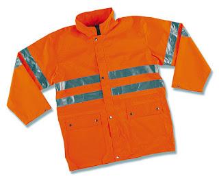 Ampliar imagen : Impermeable de Alta Visibilidad AQUA FLUO Naranja - MARCA