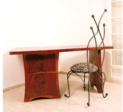 Bureau et chaise en fer forg meubles et decorations design - Coiffeuse en fer forge ...