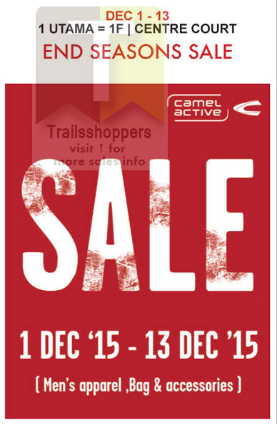 Isetan Camel Active End Of Season Sale 2015