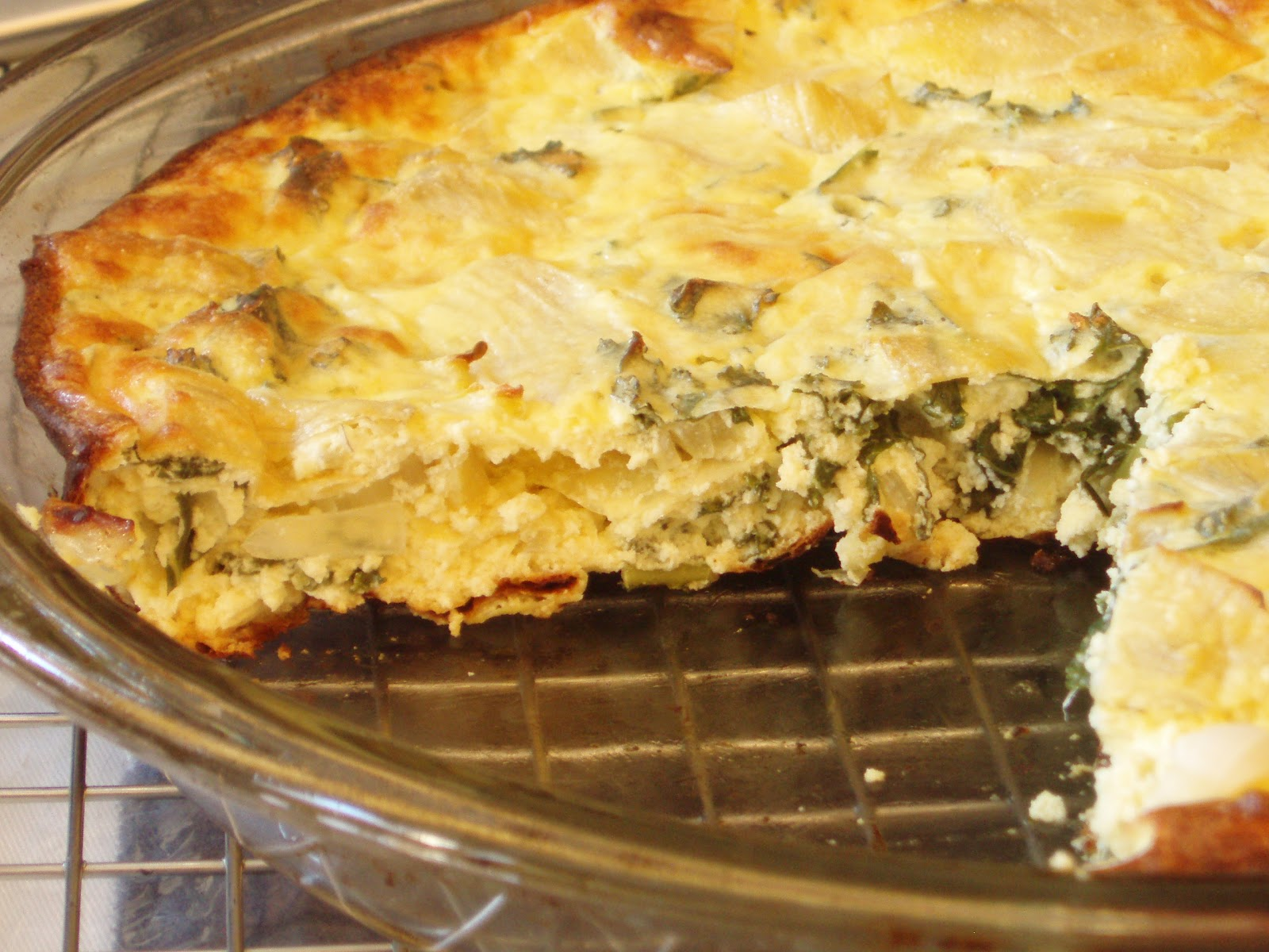 Open Mouth Insert Food: Artichoke, Kale & Ricotta Pie