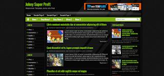 Johny Super Prett Blogger Template is a responsive quality blogger template