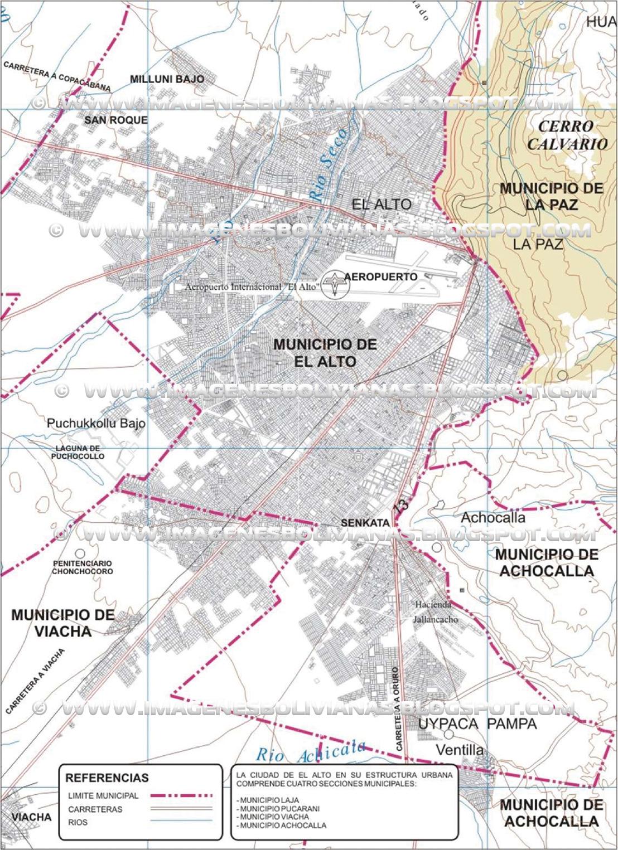 Fuente: Plano Plano Orientador de la ciudad de El Alto 2002