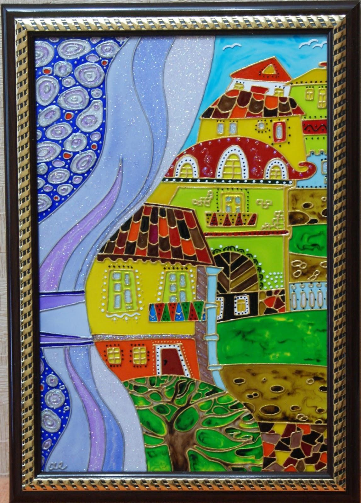 Картины росписью по стеклу