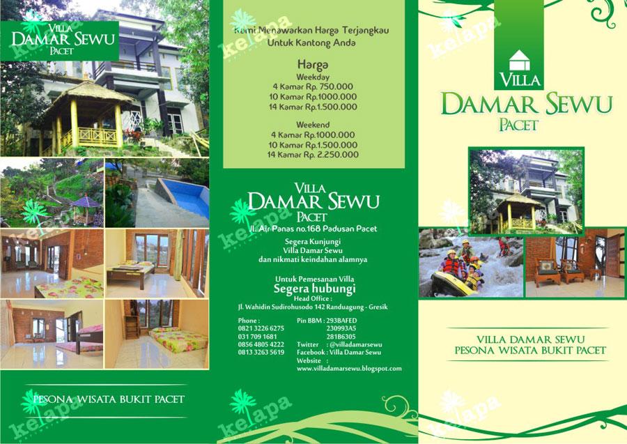 Brosur Villa Dhamar Desain Brosur 081 230 618 116 Percetakan