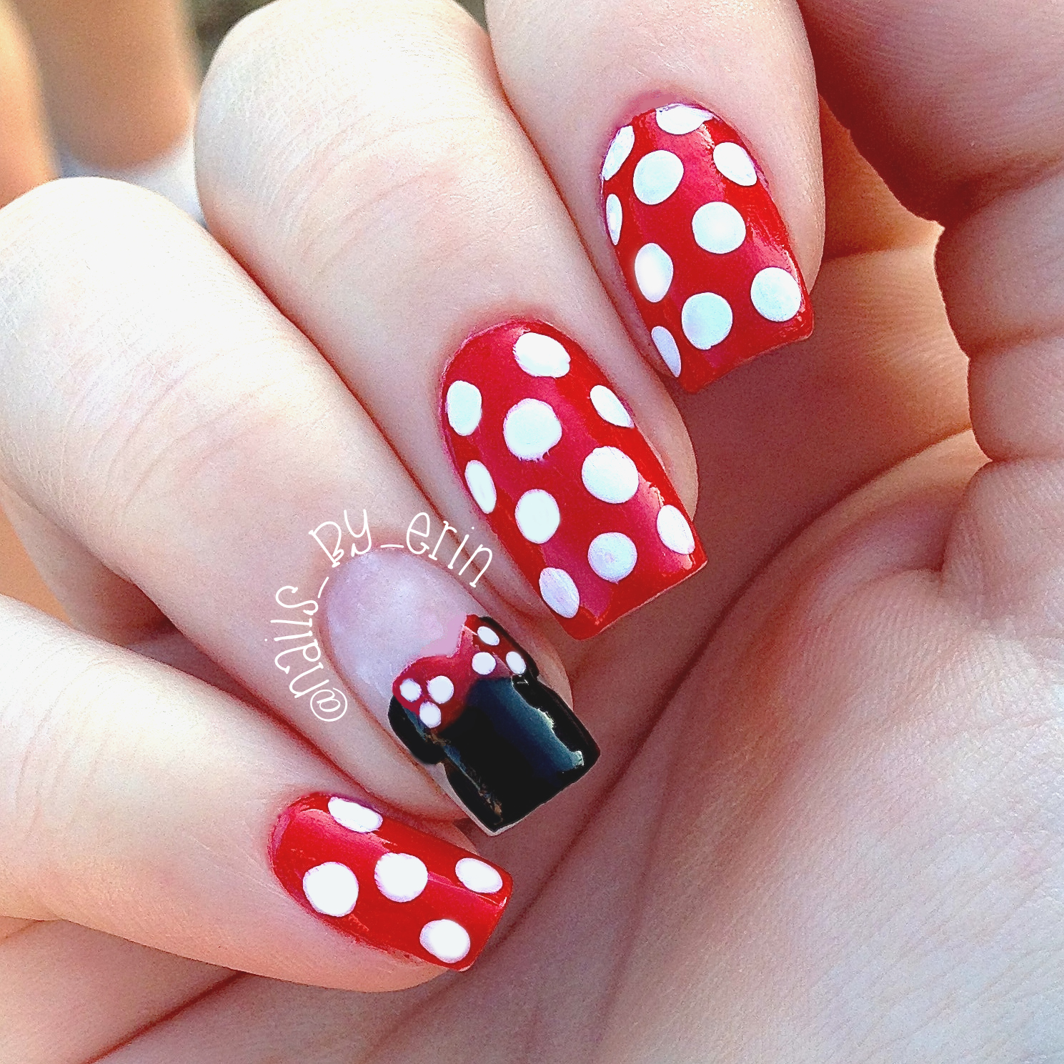 Minnie Mouse Nails - NailsByErin: Minnie Mouse Nails