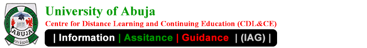 UniAbuja Centre For Distance Learning and Continuing Education Information Assistance Guidance Blog