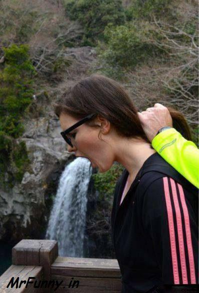 Funny Girl Waterfalls Pic