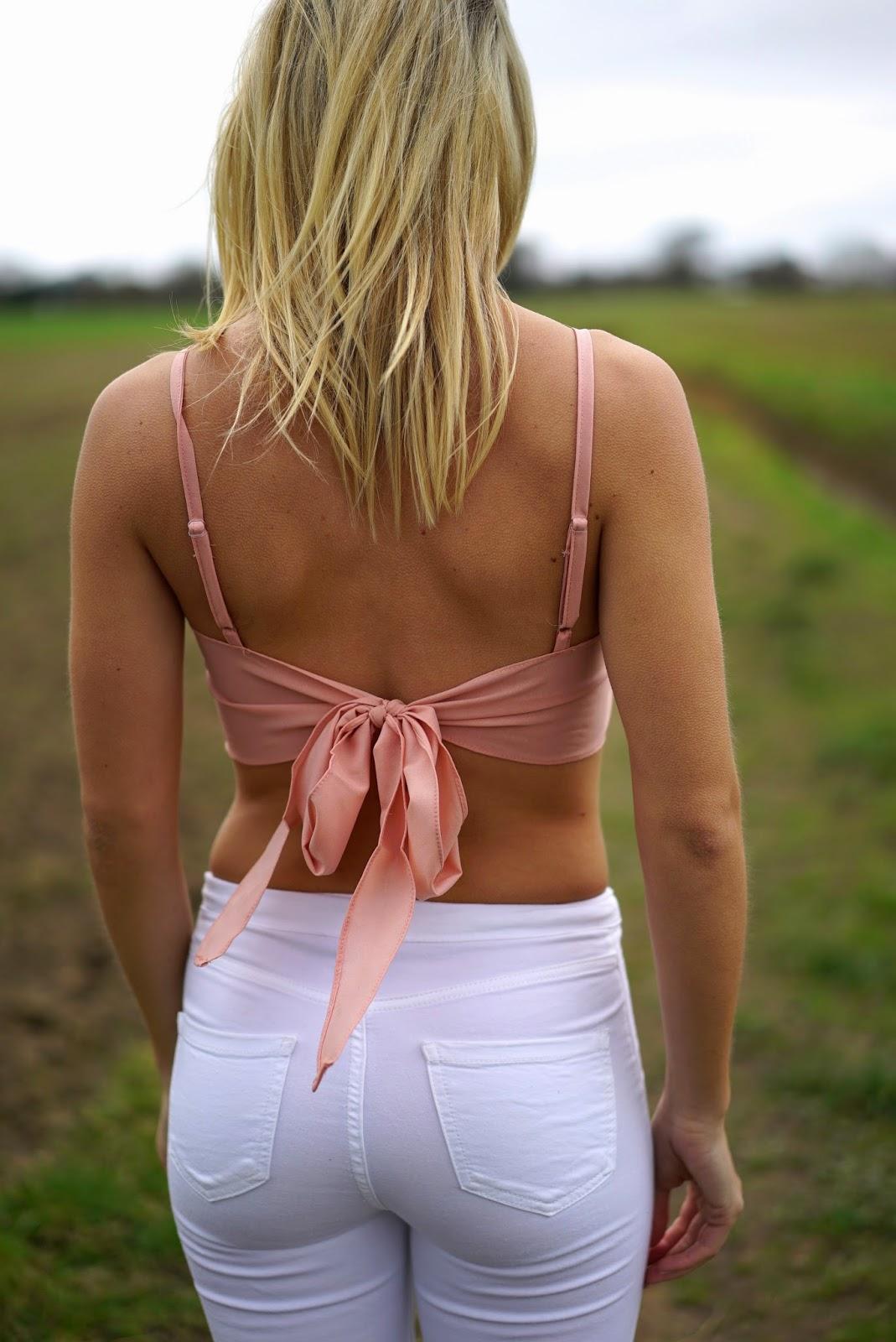 tie back crop top